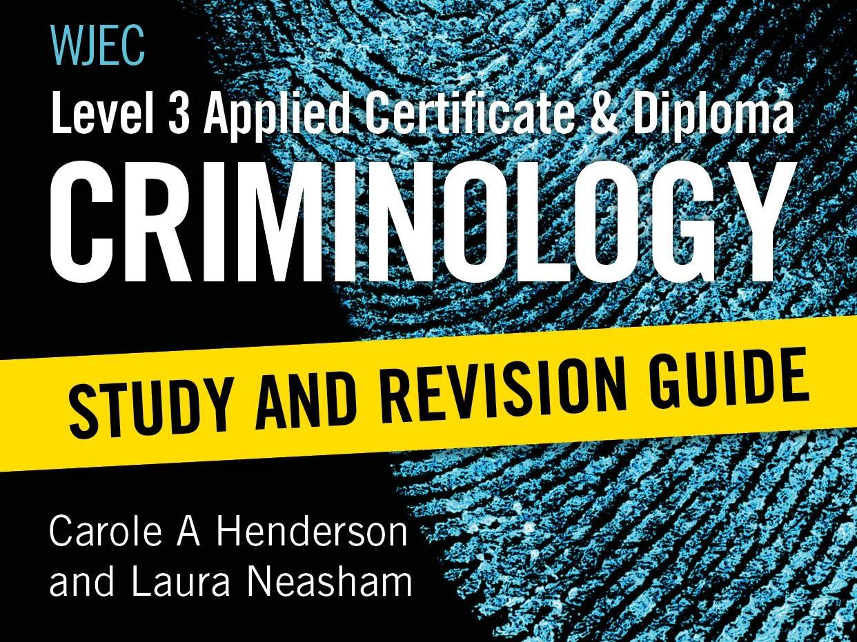 Criminology Task 1 support sheets WJEC Specification