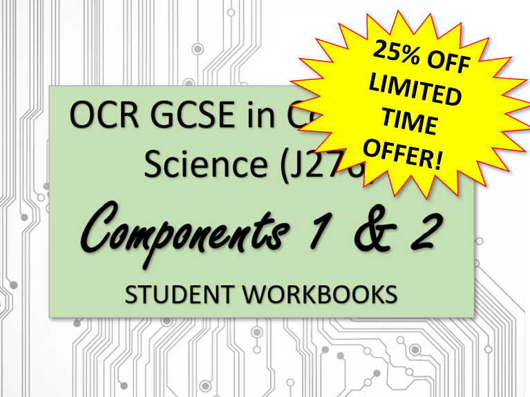 Computer Science  OCR GCSE student workbooks