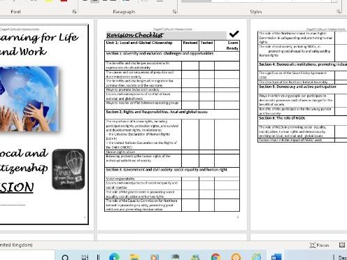 CCEA GCSE Learning for Life and Work (LLW) Revision Booklet