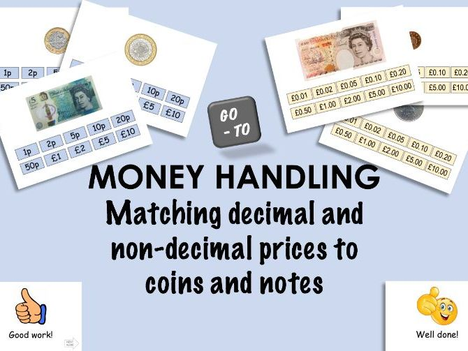 Recognising coins, notes and the corresponding prices