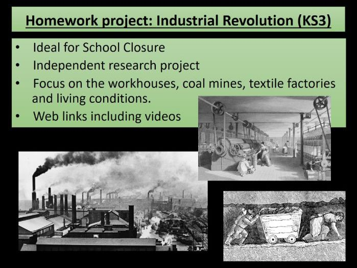 Home learning - KS3 History Industrial Revolution - ideal for school closures