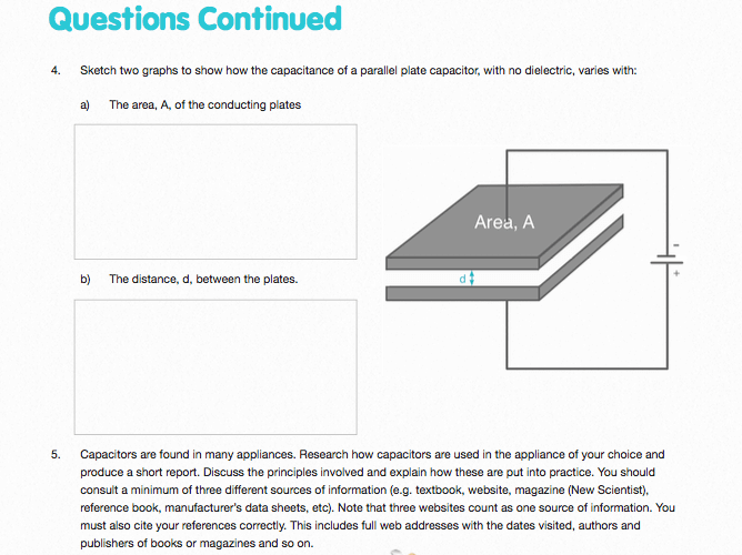 Capacitors - Questions and Worked Solutions