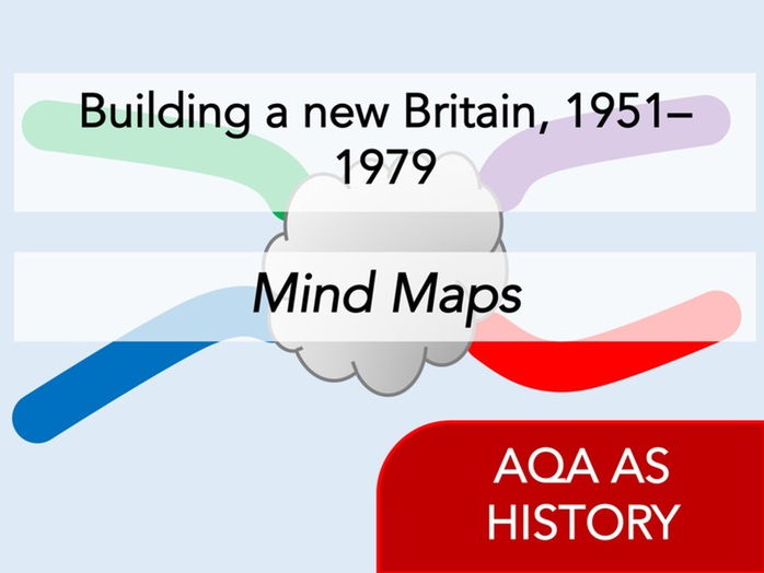 AQA History - Building a new Britain, 1951–1979 - Mind Maps [Revision / Handout]