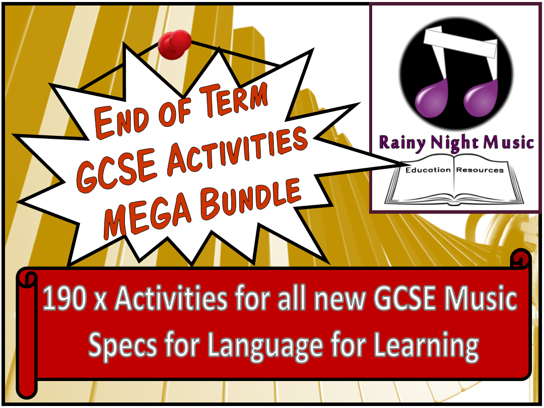End of Term GCSE Music Activities MEGA Bundle