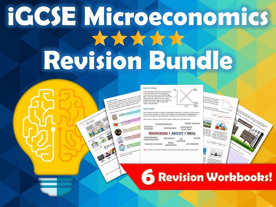 iGCSE Economics Microeconomics Revision Bundle. Edexcel. 6 Revision Guides / Workbooks