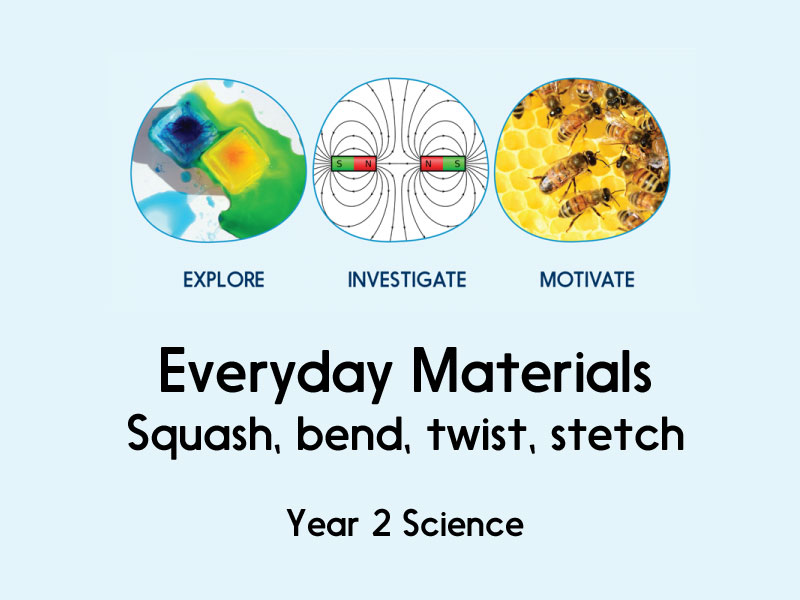 Everyday Materials - Squash, Bend, Twist, Stretch - Year 2