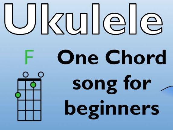 Ukulele F Chord Song: Row, row , row your boat