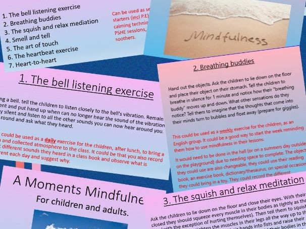 A Moments Mindfulness - activities