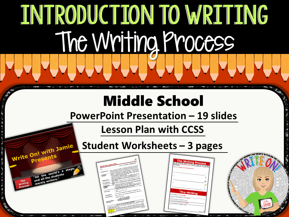 the writing process for middle school