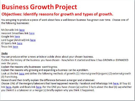 Business Growth Mini Project
