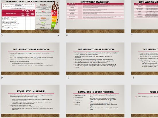 AQA A Level PE [AS 7581 / A2 - 7582] - Impact Of Sport & Society - Social Action Theory & Equal Opp