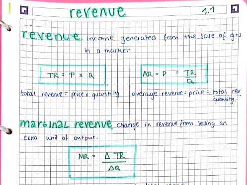 A2/A-Level Year 2 Micro Economics Notes