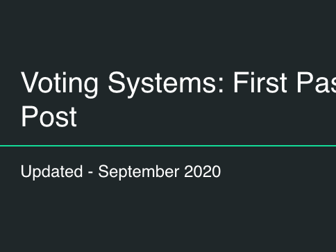 Voting Systems - First Past the Post