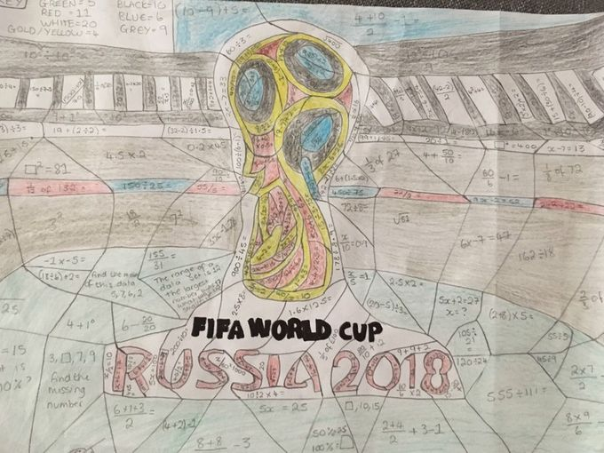 World Cup Russia 2018 - Maths Colour me in (Great end of term / transition activity!)