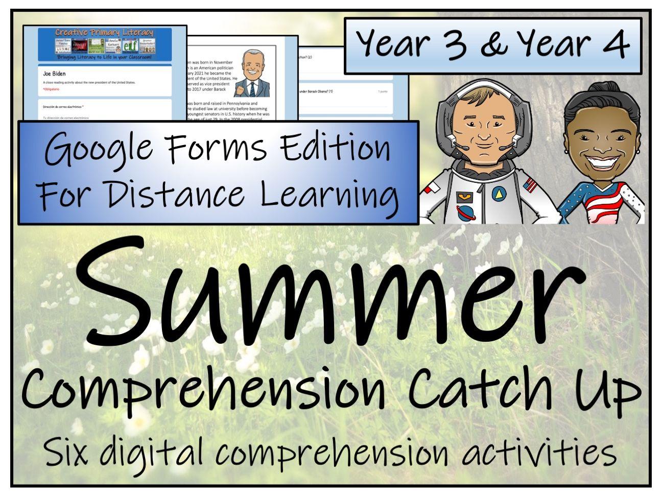 LKS2 Summer Catch Up Comprehension Activity Bundle   Digital & Print