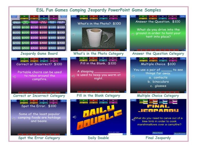 Camping Jeopardy PowerPoint Game