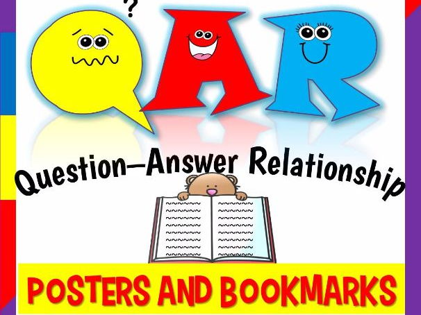QAR- Question Answer Relationship {Posters and Bookmarks}