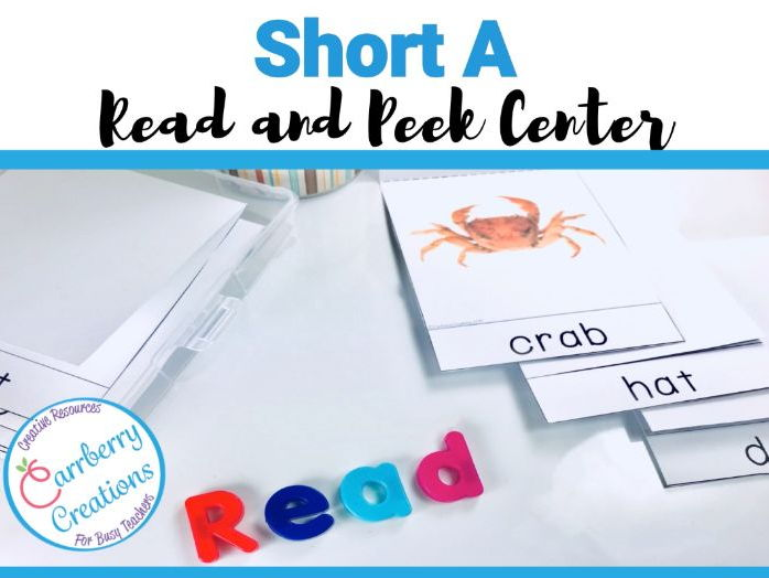 Short Vowels Literacy Center with Short A words