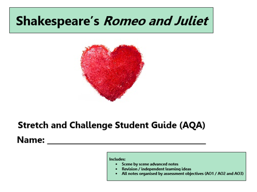 GCSE 9-1 Romeo and Juliet AQA Scheme of Work / Learning