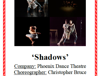 AQA GCSE Dance - Shadows
