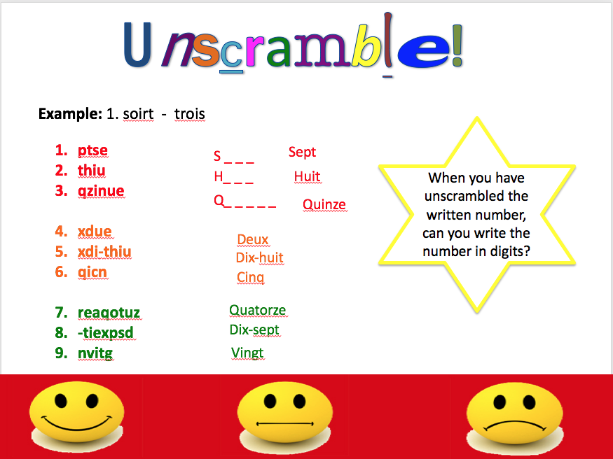 Days and numbers - expo 1 module 1 - differentiated lesson and worksheet
