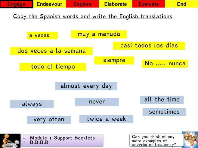 Viva 3 - Module 1 - Mi semana - Revision Lesson