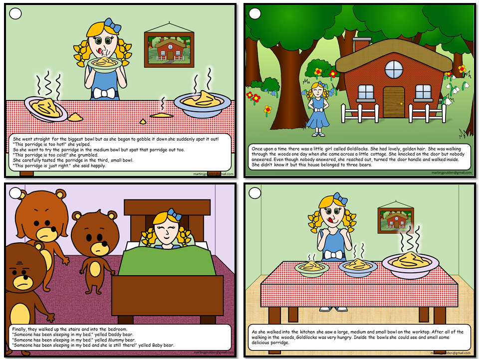 Goldilocks and The Three Bears Story Sequencing - Traditional Tales (Non-editable)