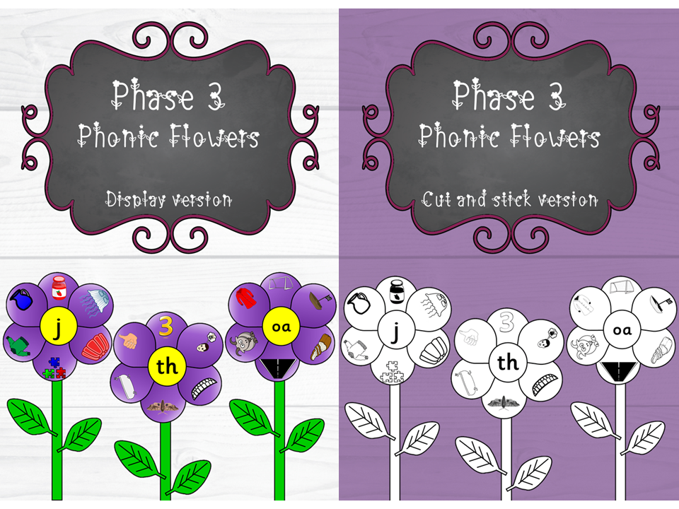 Phase 3 Phonic Flowers
