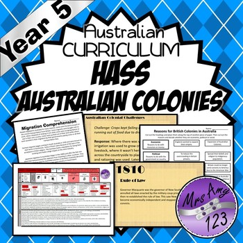 Year 5 HASS Unit- Australian Colonies - History