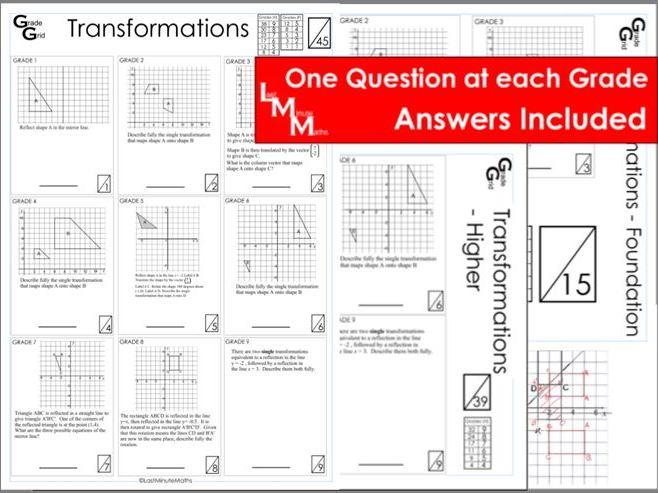 Transformations - GCSE Grade Grid