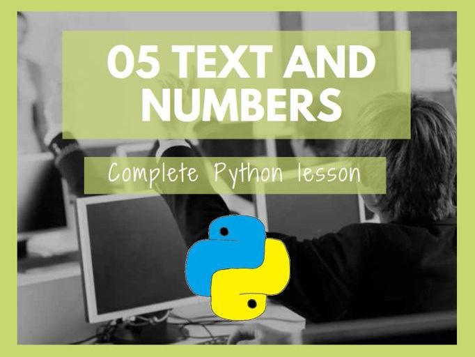 Python Text and Numbers