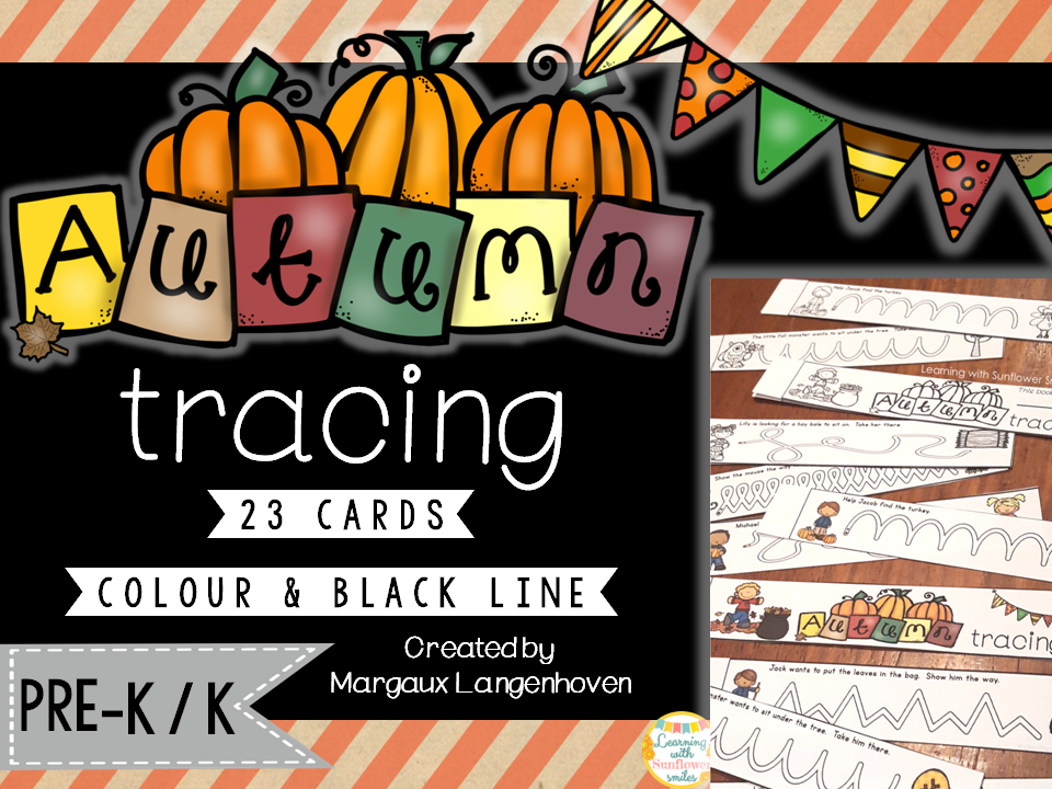 Autumn Tracing (Fine Motor Development)