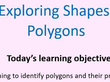 Whole lesson on Polygons