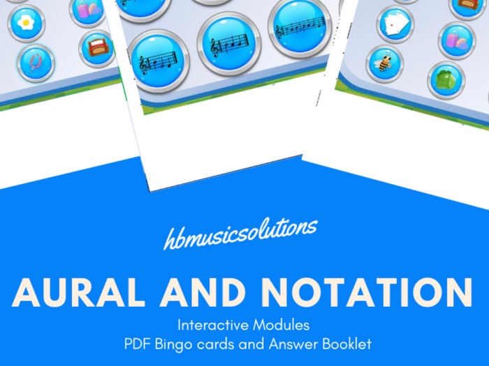 Aural and Notation Bingo Listening Games 1