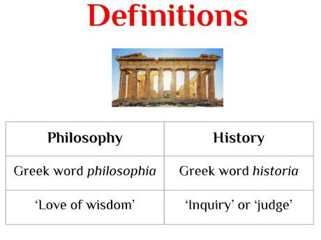 The Philosophy of History: Lesson 1