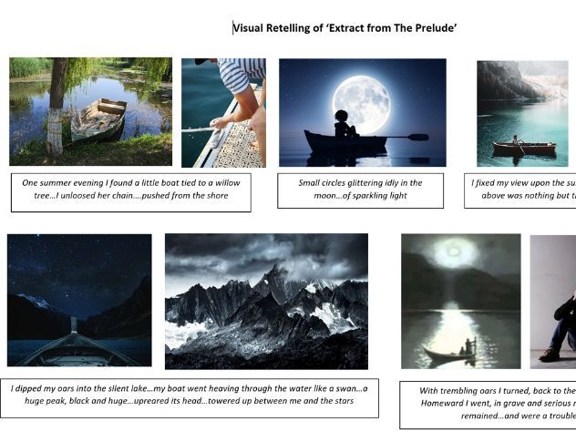 Extract from The Prelude - visual retelling and tasks