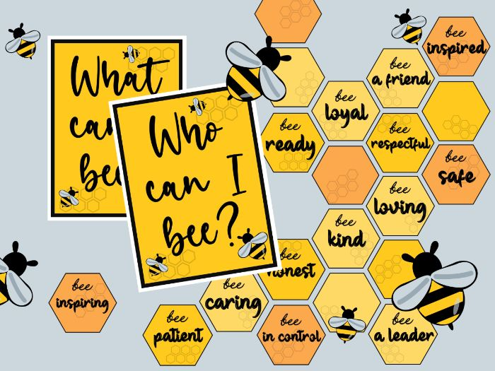 Bee inspirational display for motivating your children