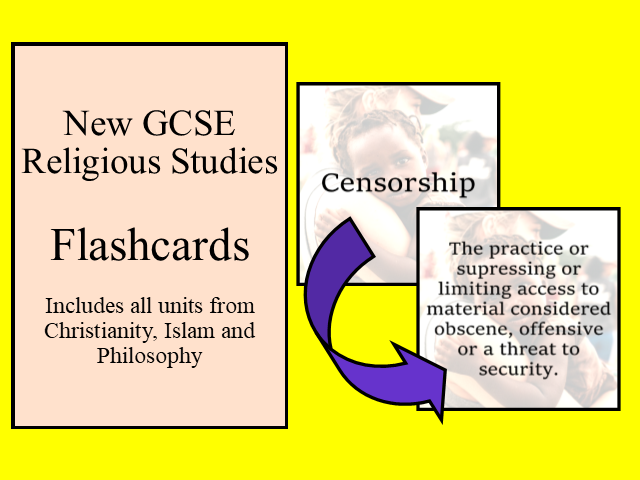 New GCSE Religious Studies Flashcards - All Sections Christianity / Islam/Philosophy