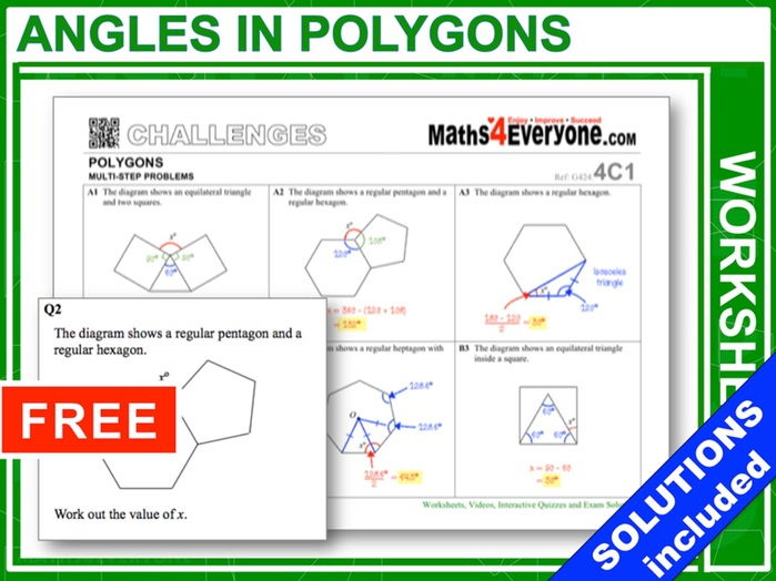 Angles in Polygons (Challenges – Part 2)
