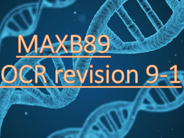OCR 9-1 Biology Revision Mats AND Slides -Entire B1-6 (All topics)