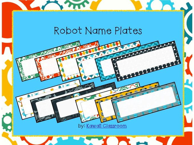 Robot Desk Tags (Name Plates)