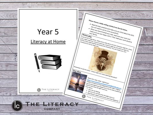 Literacy learning from home - Year 5