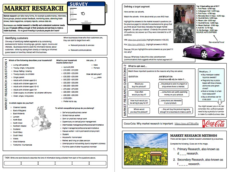 OCR GCSE Business Studies 9-1 The role of marketing, The purpose of market research