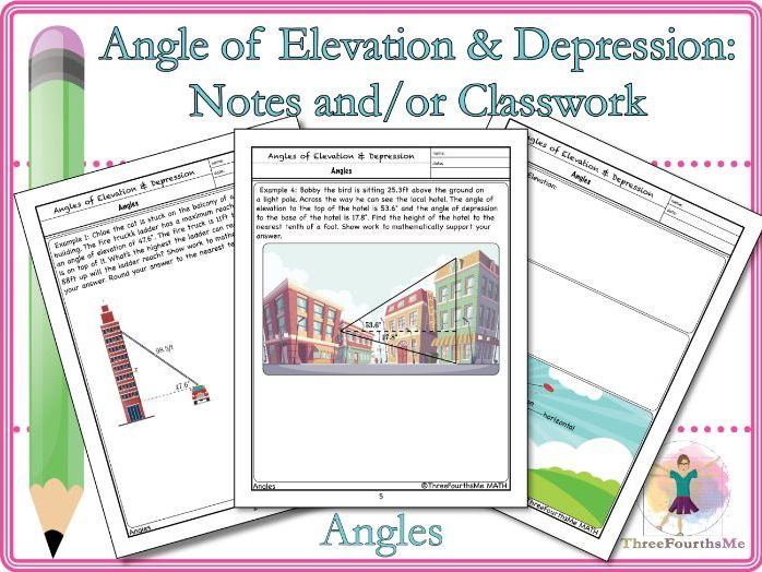 Angle of Elevation & Depression: Notes and/or Classwork