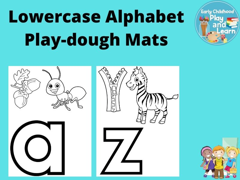 Beginning Sounds Lowercase Alphabet Play-dough Mats