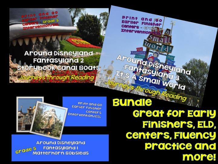 Journey's through Reading: Fantasyland 1 Bundle ELD/Centers/Early Finishers