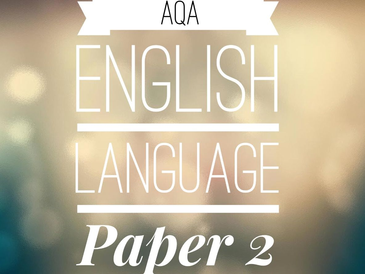 PAPER 2 AQA 8700 spec Questions 3 - 5