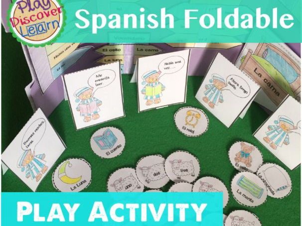 Spanish Foldable Play Activity Buenas Noches