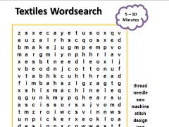 Textiles Key Stage 2/3 wordsearch - Design Technology