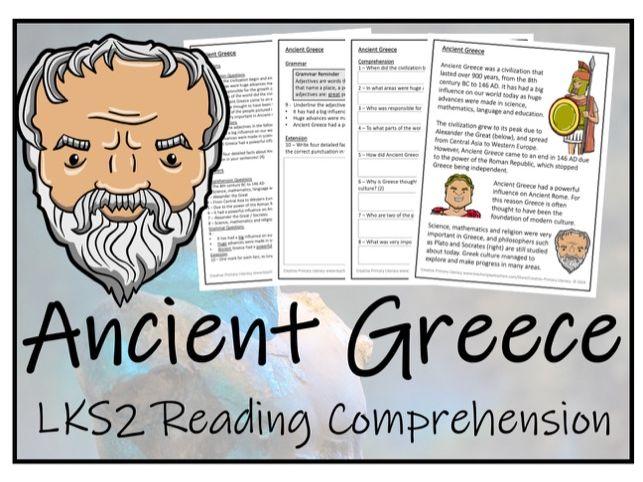 LKS2 History - Ancient Greece Reading Comprehension Activity